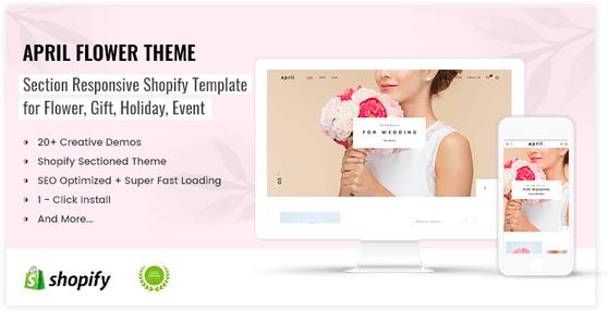 Excellent idea for flower shop online shopify theme - preview