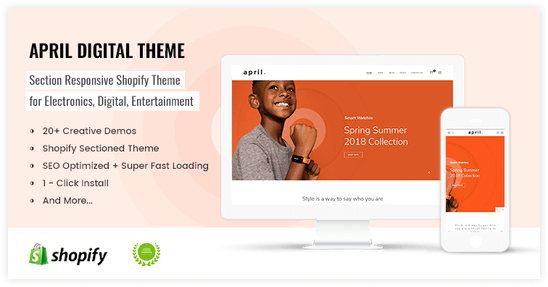 Shopify theme for high techology services store - preview