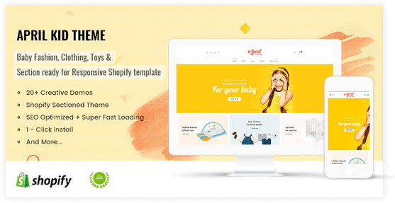Colorful concept for kid store shopify theme - preview