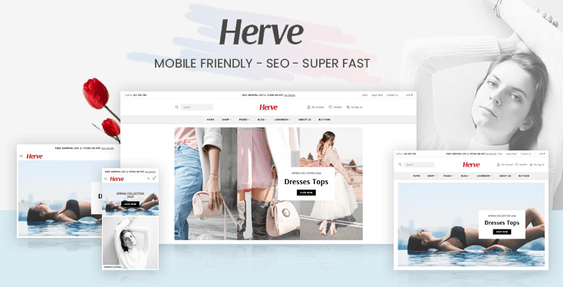 Preview of Herve - Clothing store Shopify theme