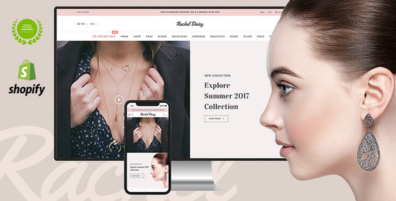 Rachel Daisy - Jewelry Shopify Theme with Sections Content Builder