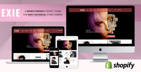 Exie - Shopify theme for non-technical fashion store owners - Preview