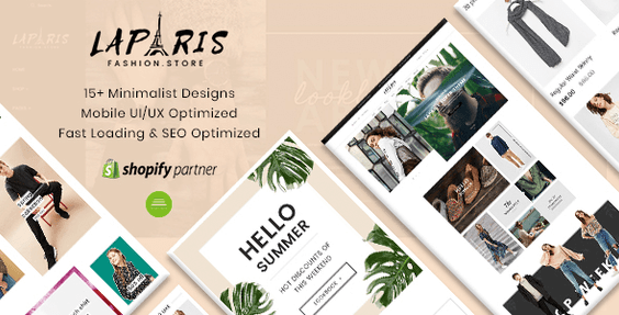 Paris - 2018's Best Selling Sections Shopify Themes For Online Fashion Store