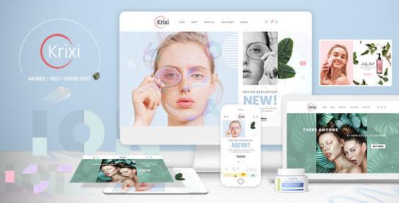 Krixi - Beauty & Cosmetic Shopify Theme Preview