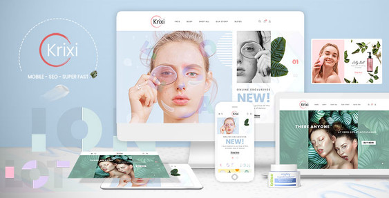 Krixi - Beauty & Cosmetic Shopify Theme Preview
