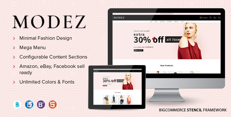 Modez Fashion BigCommerce Theme Preview