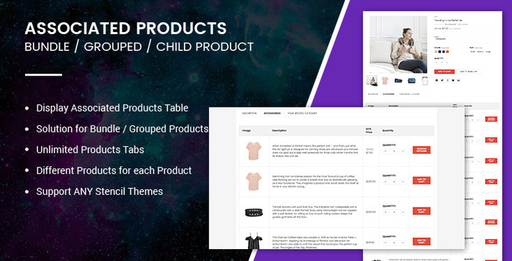 Solution for BigCommerce Associated, Bundle, Grouped Products