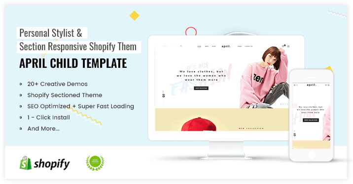 APRIL-07 - Themes for Fashion store on smartphones and tablets