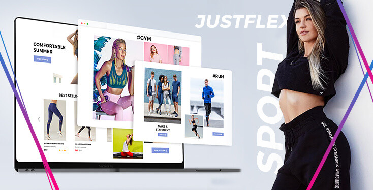 Just Flex – Section Shopify For Online Bikini & Swimwear Store