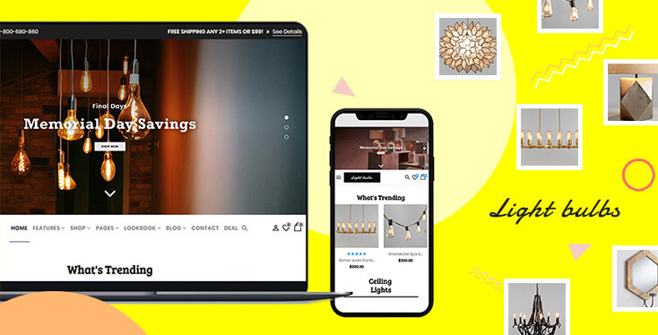 Lightbulbs – Sections Shopify Theme For Lighting devices