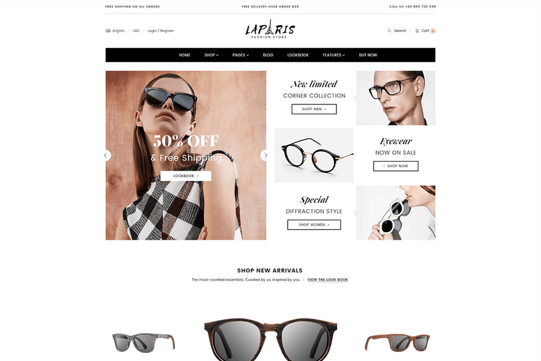 Wonderful Sectioned Shopify Theme For Online Glasses Store - La Paris #6