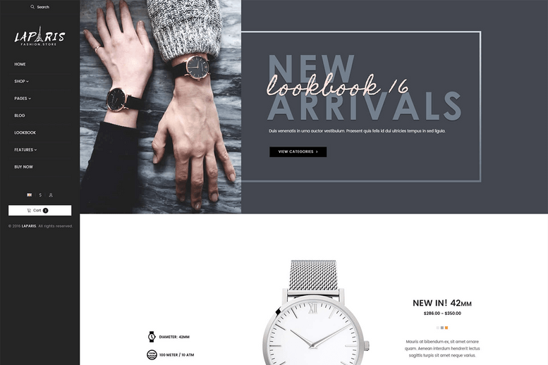 Creative Shopify Theme For Online Watches Store - La Paris #7