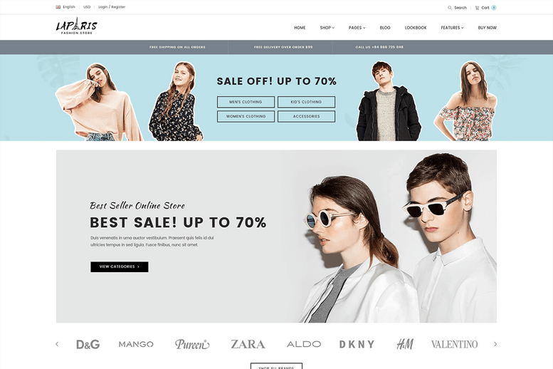luxury creative sections shopify theme for online fashion center - La Paris #09