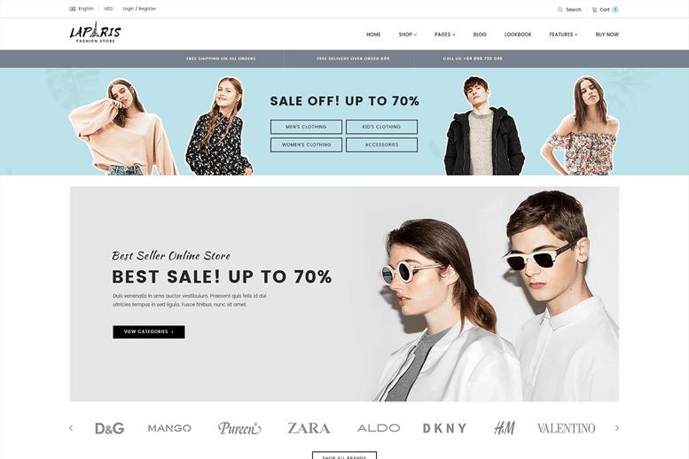 luxury creative sections shopify theme for online fashion center - La Paris #09