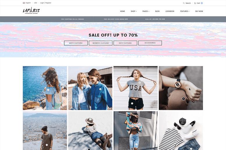 Creative Shopify Theme for Online Fashion Store - La Paris #10