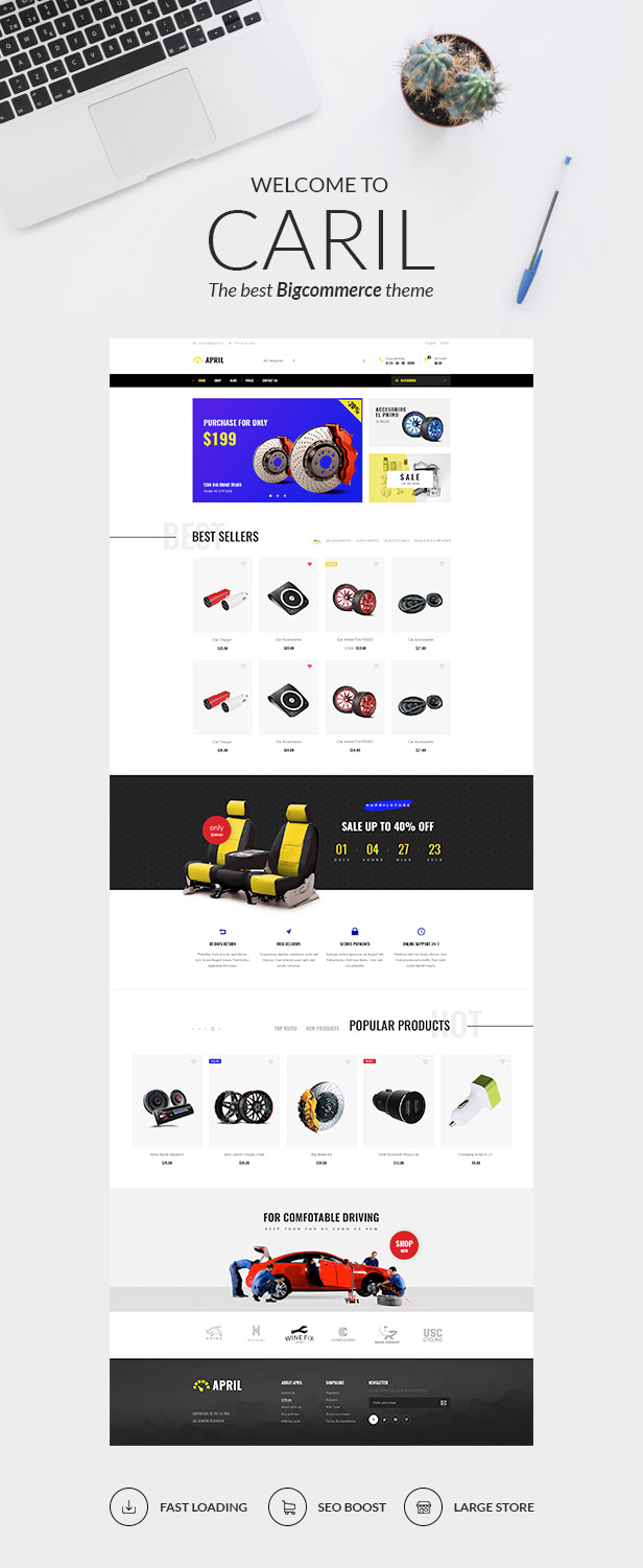 First Sight of CARIL BigCommerce theme