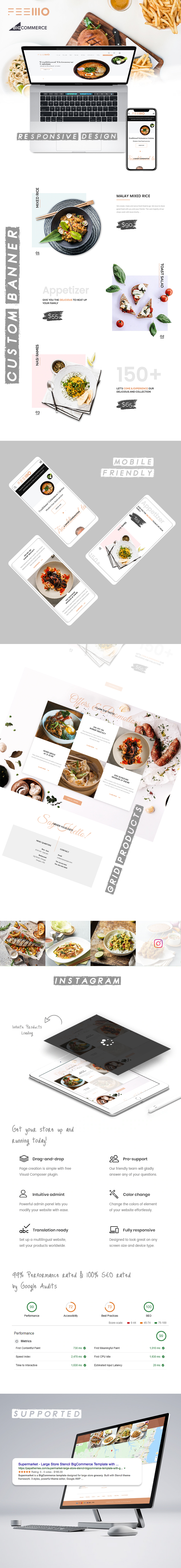Feellio Cuisine BigCommerce theme description