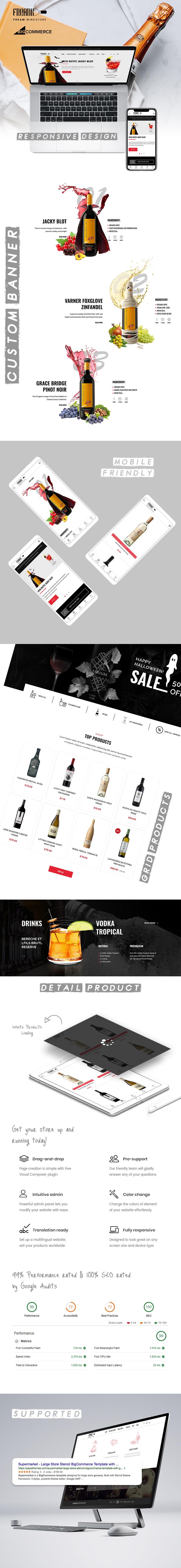 Feellio Wine Store BigCommrce theme description