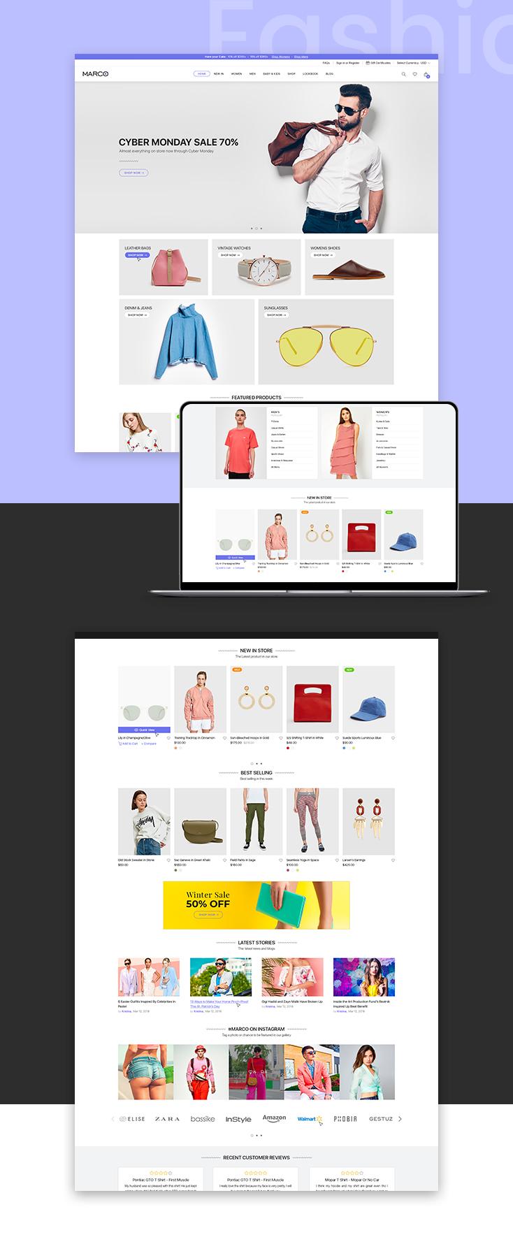 Marco Fashion shopify theme design