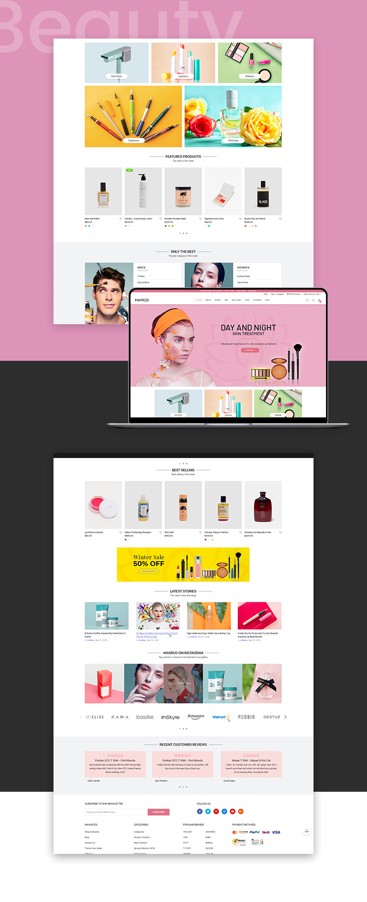 Marco Beauty shopify theme design