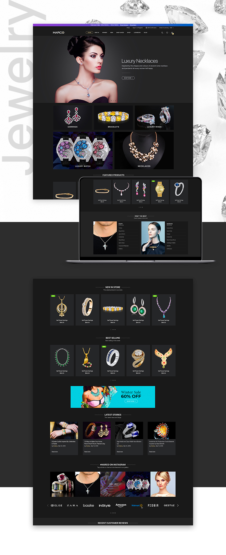 Marco Jewelry Shopify theme design