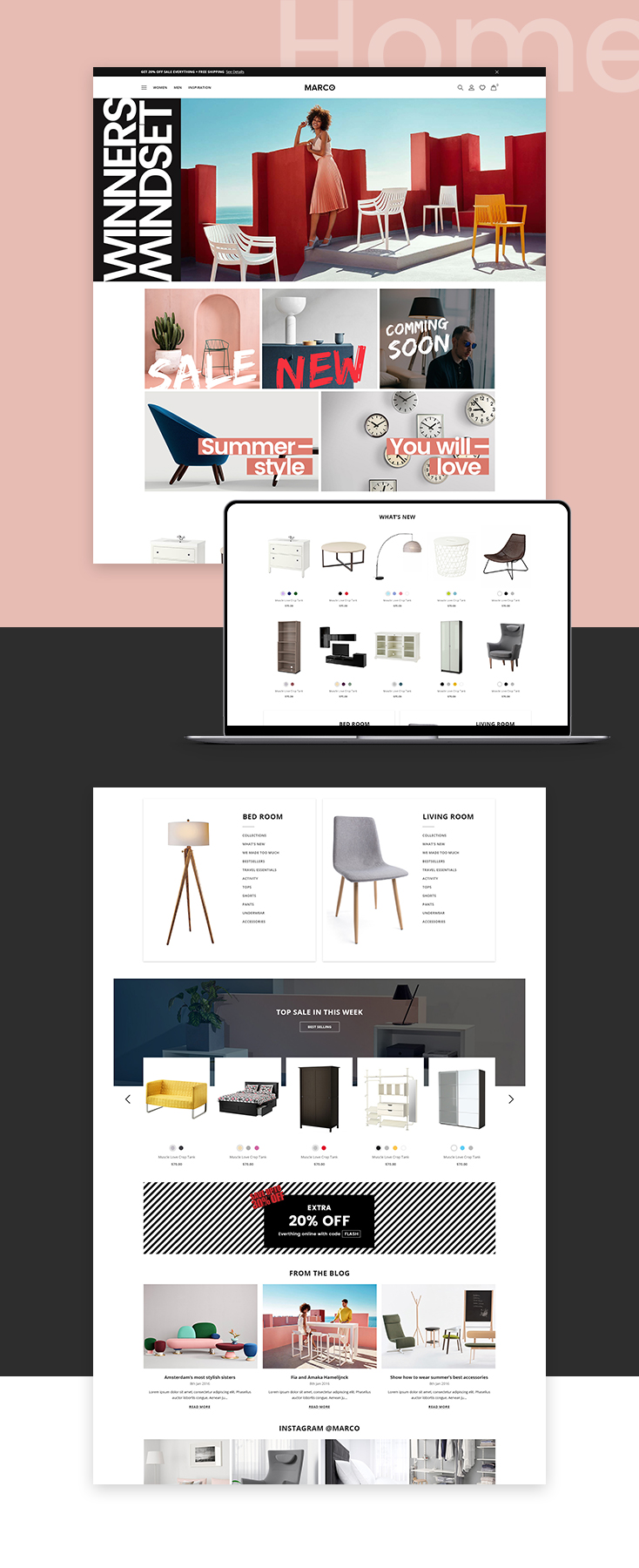 Marco Furniture Shopify theme design