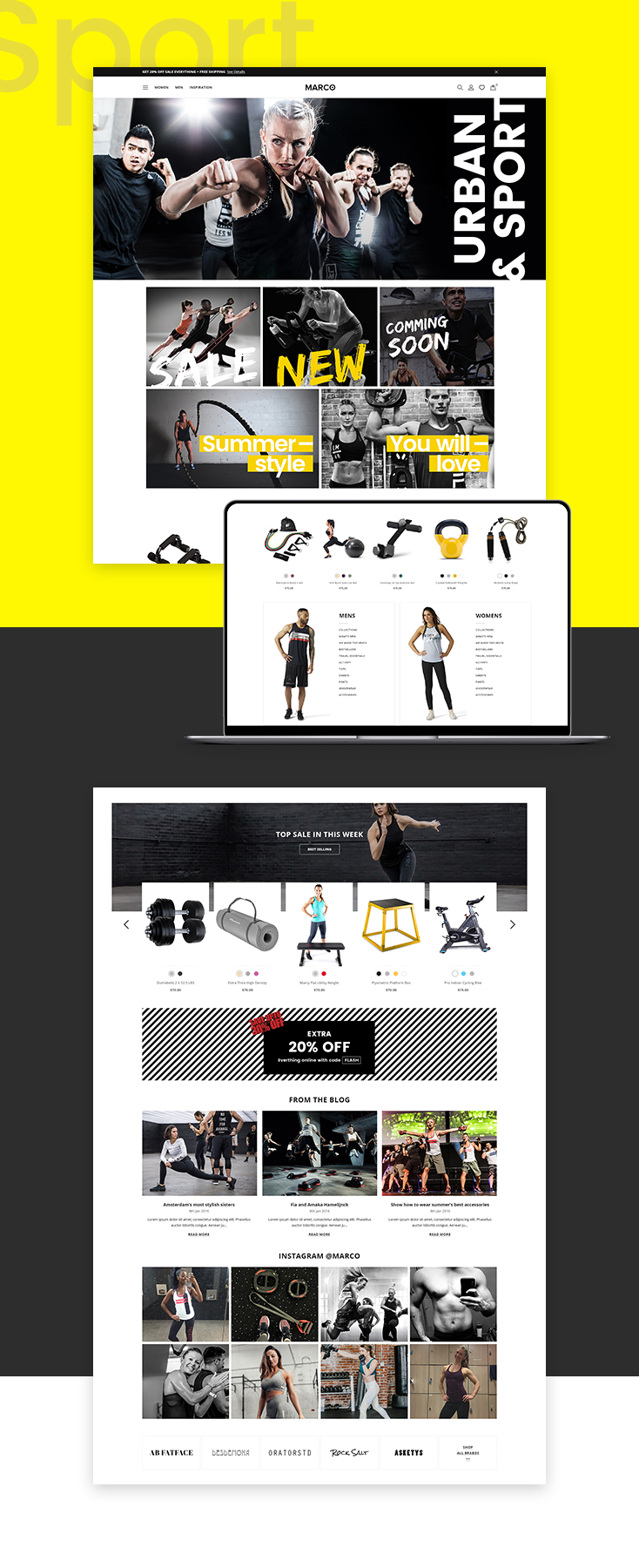 Marco Sportage Shopify theme design