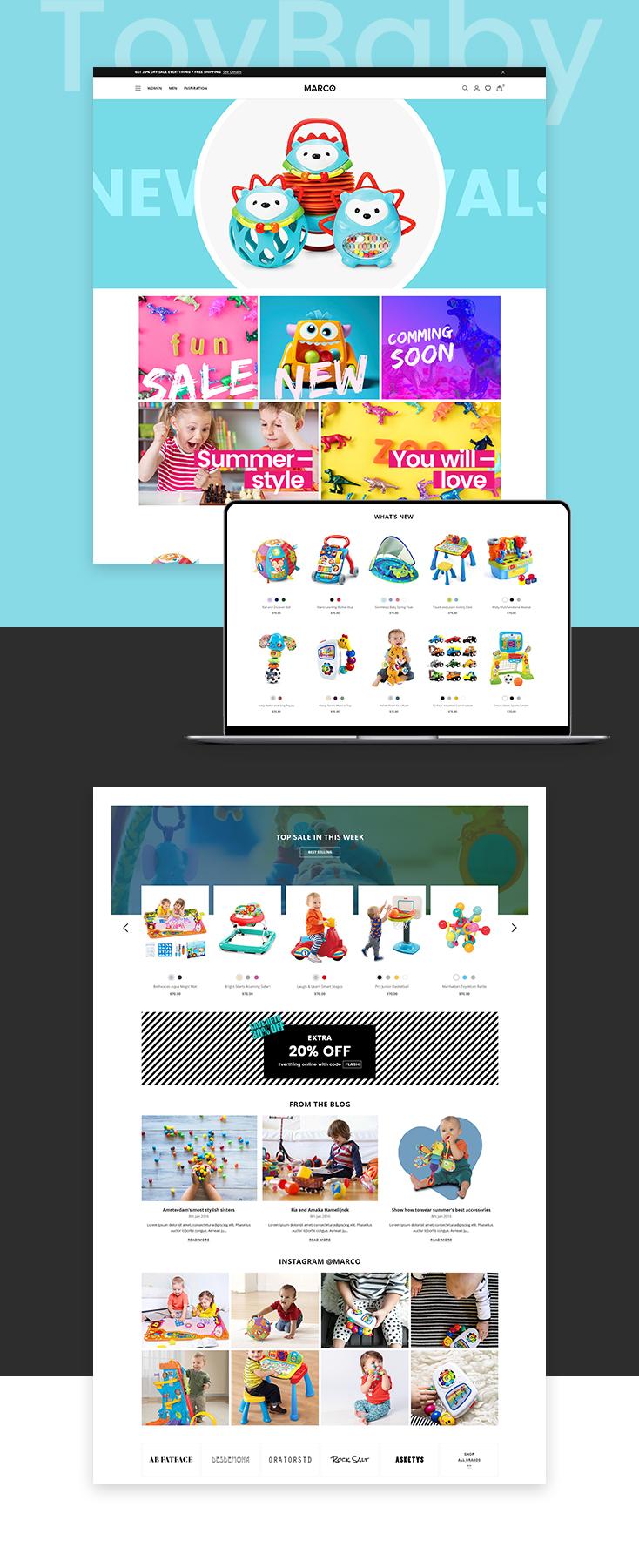 Marco Toys Shopify theme design