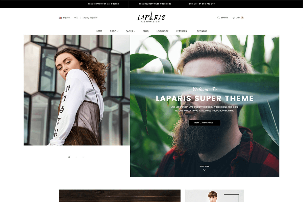 Excellent creative shopify theme for online clothing store
