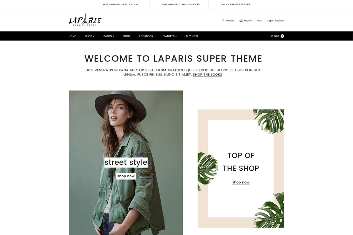Elegant Creative Responsive Shopify Theme For Online Fashion Store