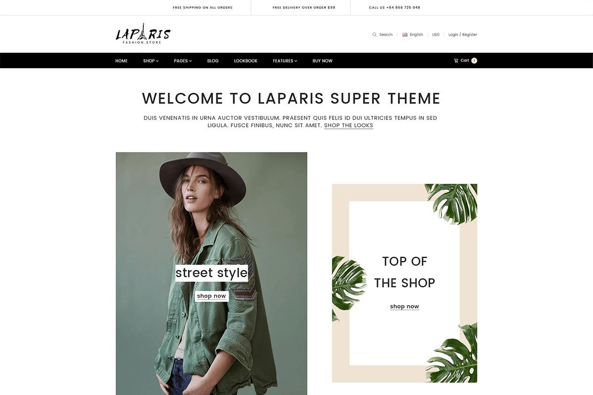 Elegant Creative Responsive Shopify Theme For Online Fashion Store