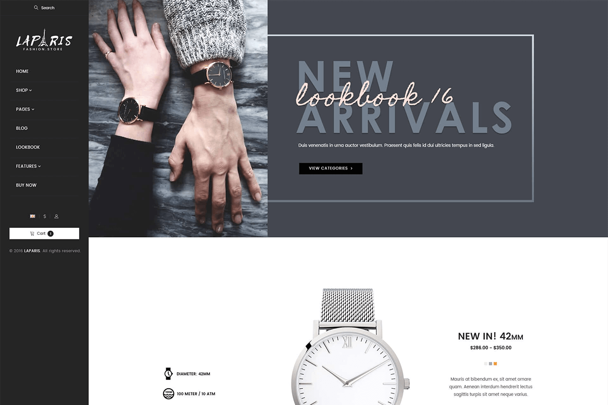 Creative Shopify Theme For Online Watches Store
