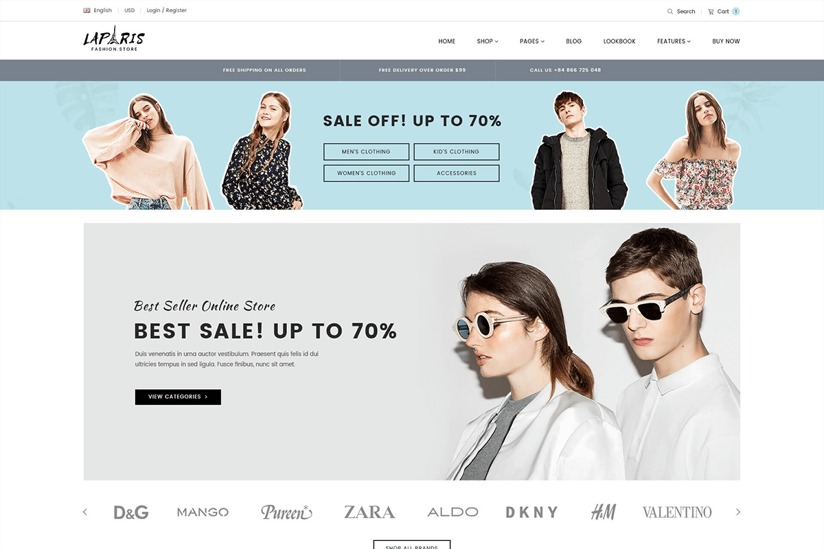 Creative Multipurpose Sections Shopify Theme For Fashion Center