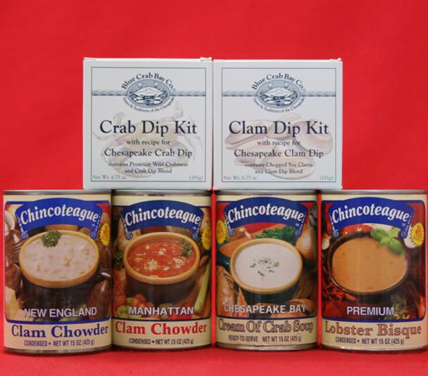 CHINCOTEAGUE AWARD WINNERS AND SEAFOOD DIPS GIFT BOX