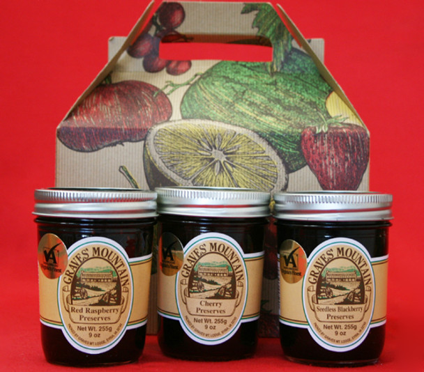 GRAVES MOUNTAIN PRESERVE SAMPLER GIFT BOX