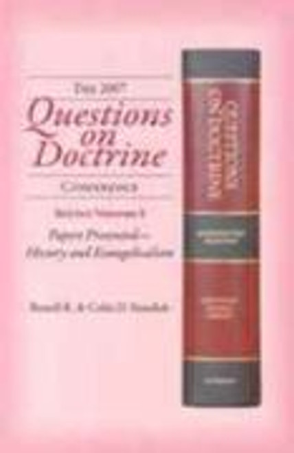Questions on Doctrine Conference, 2007:  Papers Presented - History and Evangelicalism.