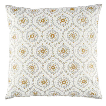 John Robshaw Ditti Metallic Decorative Pillow With Insert 40x40 Interesting Gracious Home Decorative Pillows