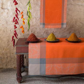 Le Jacquard Francais  Pondichery Spices Tablecloth