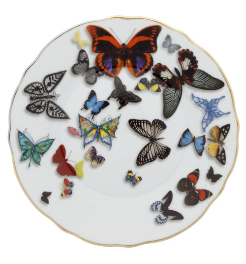 """Christian La Croix Butterfly Parade Bread & Butter plate 6 2/3"""""""