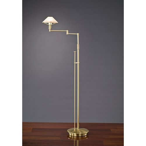 Holtkoetter aging eye swing arm floor lamp in brushed brass with holtkoetter aging eye swing arm floor lamp in brushed brass with glass shade 9434 aloadofball Image collections