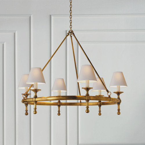 Visual comfort lamps sconces and chandeliers gracious home ef chapman classic ring chandelier aloadofball Choice Image