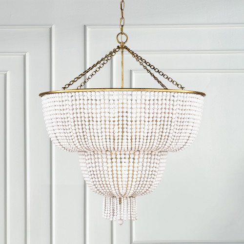 Hard-Rubbed Antique Brass with White Acrylic