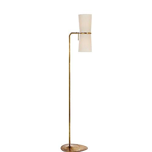 Aerin Clarkson Floor Lamp In Hand Rubbed Brass U0026 Linen Shade