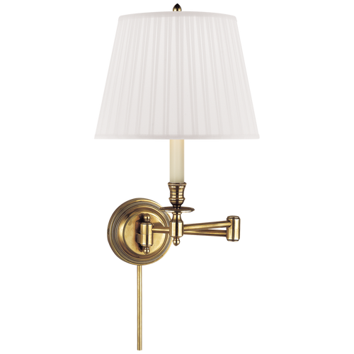 Visual Comfort Studio Candle Stick 19 inch 60 watt Swing-Arm Wall Light in Silk  sc 1 st  Gracious Home & Lighting - Page 14 - Gracious Home