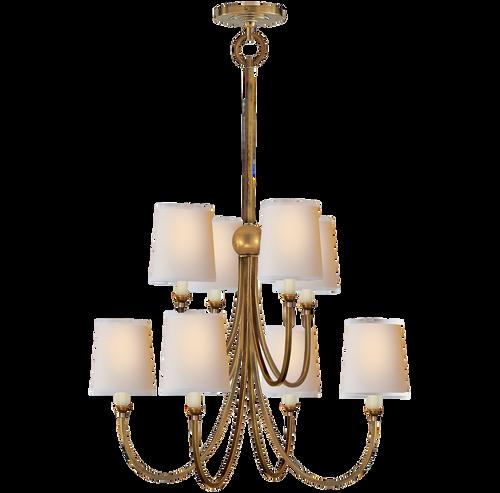 Thomas obrien reed chandelier antique brass gracious home visual comfort thomas obrien reed chandelier antique brass aloadofball Gallery