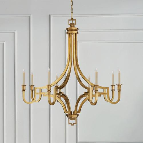 Ordinaire Visual Comfort Small Mykonos Antique Brass Chandelier