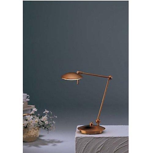 Holtkoetter Round Head Adjustable Desk Lamp In Antique Brass