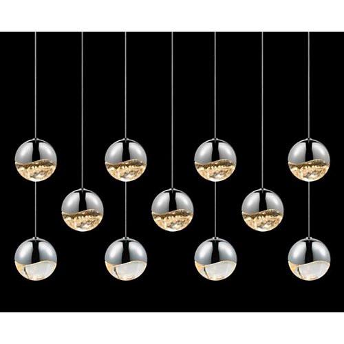 Sonneman Grapes 11 Light Rectangular Pendant