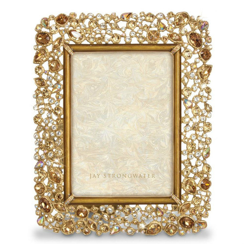 Jay Strongwater Javier Golden Bejeweled Frame - Gracious Home