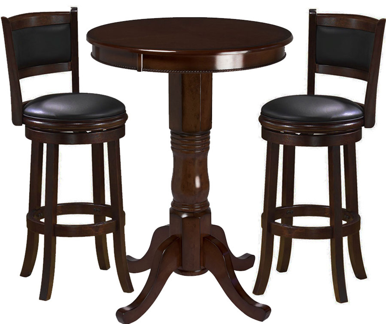 Ram Pub Table Set 3 Piece Cappuccino - Ozone Billiards